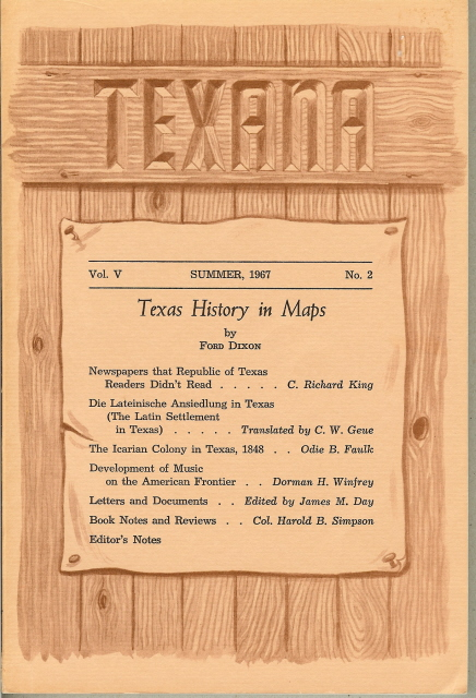 Image for TEXANA Vol. V, No. 2, Summer 1967