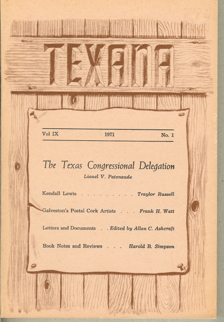 Image for TEXANA, Vol. IX, No. 1, 1971