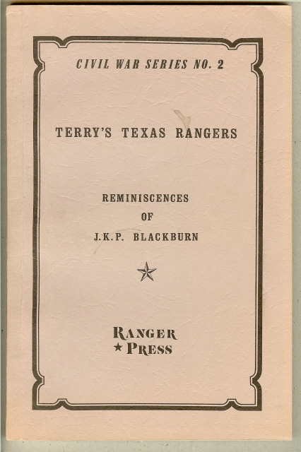 Image for REMINISCENCES OF THE TERRY RANGERS.